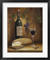 Framed Wine And Cheese A