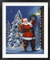 Framed Santa Wreath