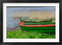 Framed Colorful Canoe by Lake, Trakai, Lithuania I