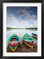 Framed Lake Luka, Trakai Historical National Park, Trakai, Lithuania