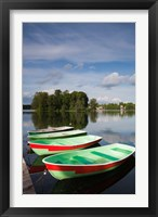 Framed Lithuania, Trakai Historical NP, Lake Galve boats