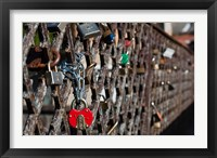 Framed Lithuania, Vilnius, Footbridge, Lovers' Locks