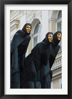 Framed Lithuania, Vilnius, Three Muses statue