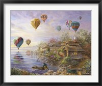 Framed Air Balloons Over Cottageville