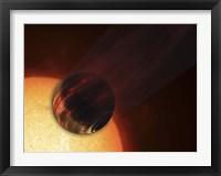 Framed Artist's concept of a Hot Jupiter Extrasolar Planet Orbiting a Sun-like Star