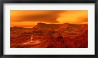 Framed Panorama of a landscape on Venus at 700 degress Fahrenheit