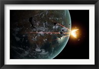 Framed Laser Anti-Asteroid Defense System