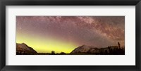 Framed Aurora borealis, Comet Panstarrs and Milky Way