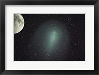 Framed Size of Comet Holmes in comparison with the Moon