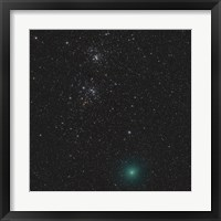 Framed Comet Hartley 2 and the Double Cluster
