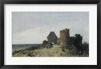 Framed Ruins Of The Chateau De Rosemont, Nievre, 1861