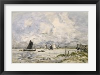 Framed Pier On The Scheldt, 1866