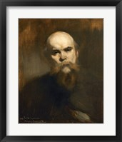 Framed Portrait Of The Poet Paul Verlaine (1844-1896)