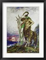 Framed Dead Poet Carried By a Centaur, 1870