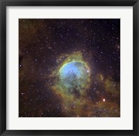Framed NGC 3324, also known as the Gabriela Mistral Nebula located in the Constellation Eta Carinae