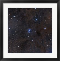 Framed bright star VdB 16, dust and nebulosity in the Constellation Aries