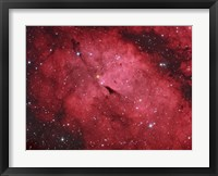 Framed Sadr region in the Constellation Cygnus