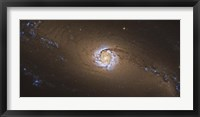 Framed NGC 1097, a barred spiral galaxy in the Constellation Fornax