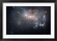 Framed Magellanic dwarf irregular galaxy NGC 4449 in the Constellation Canes Venatici