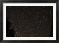 Framed Star Trails around Polaris in the Constellation Ursa Minor