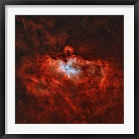 Framed Eagle Nebula in the Constellation Serpens
