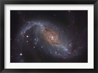 Framed Barred spiral galaxy NGC 1672 in the Constellation Dorado