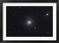 Framed Messier 3, a globular cluster in the Constellation Canes Venatici