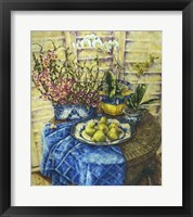 Framed Orchids And Pears