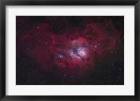 Framed Lagoon Nebula