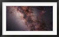 Framed Stars, Nebulae and dust clouds around the center of the Milky Way