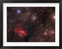 Framed Bubble Nebula, an emission Nebula in Cassiopeia