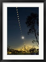 Framed Solar Eclipse composite, Queensland, Australia II