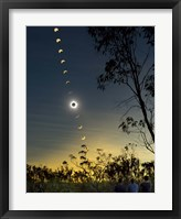 Framed Solar Eclipse composite, Queensland, Australia I