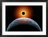 Framed total Eclipse of the Sun as seen from being in Earth's orbit