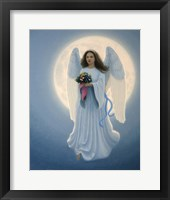 Framed Moon Angel