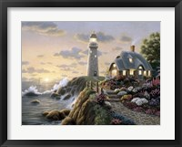 Lighthouse Cottage Framed Print