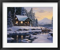 Framed White Tail Twilight