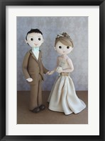 Bride And Groom Taupe Framed Print