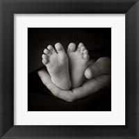 Framed Baby Feet In Hand I