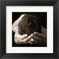 Baby And Adult Hand II Framed Print