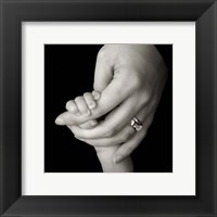 Baby And Adult Hand III Framed Print