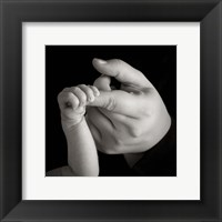 Baby Arm And Finger Framed Print
