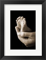 Framed Baby Foot In Hand