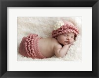 Baby And Pink Ruffles Framed Print