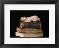 Framed Baby On Books