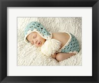 Baby And Baby Blue Framed Print