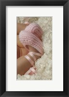 Framed Baby Booties Pink