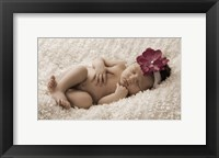 Baby In Wine Flower Framed Print