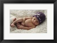 Baby Mauve Cap Framed Print