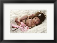 Baby Stiched Cap Framed Print